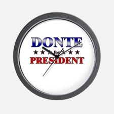 DONTE for president Wall Clock