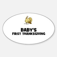 Baby's First Thanksgiving Oval Decal