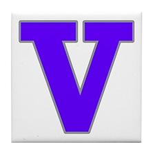 Alphabet In Street Tiles V Tile Coaster