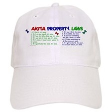Akita Property Laws 2 Baseball Cap
