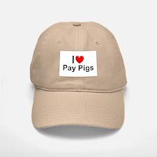 Pay Pigs Baseball Baseball Cap
