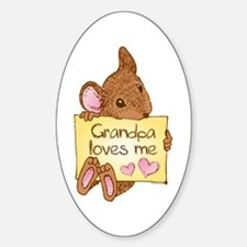 Mouse Love GP Oval Decal