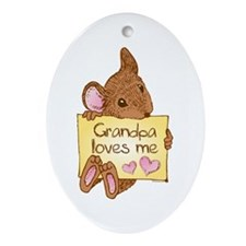 Mouse Love GP Oval Ornament