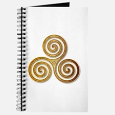 Celtic Triple Spiral in Citrine & Gold Journal