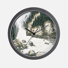 Silent Pines Wall Clock