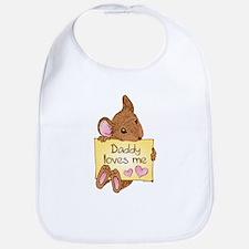 Mouse Love Dad Bib
