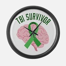 TBI Survivor Large Wall Clock