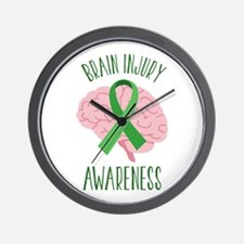 Brain Injury Awareness Wall Clock