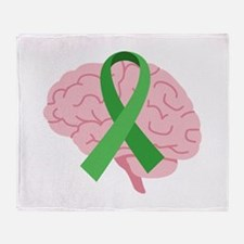 Brain Injury Awareness Throw Blanket