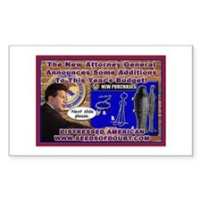 New Attorney General Rectangle Decal