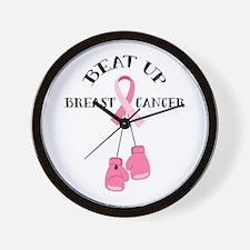 Beat Breast Cancer Wall Clock
