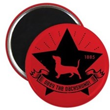 Obey the Dachshund! Star Icon Magnet