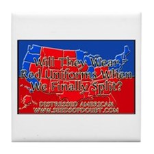 Red Uniforms Tile Coaster