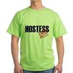 Off Duty Hostess Green T-Shirt