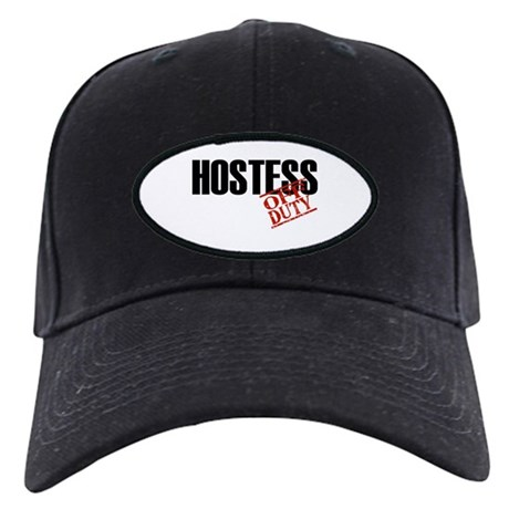 Off Duty Hostess Black Cap