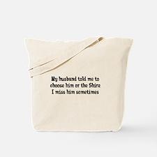 Husband or Shire Tote Bag