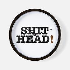 SHIT HEAD! Wall Clock