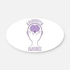 Alzheimers Awareness Oval Car Magnet