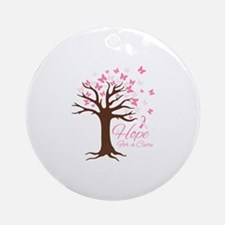 Hope For Cure Round Ornament