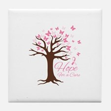 Hope For Cure Tile Coaster