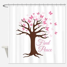 Find Peace Shower Curtain
