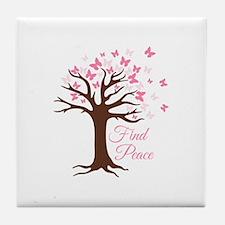 Find Peace Tile Coaster