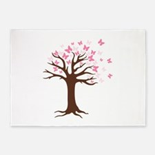 Butterfly Hope Tree 5'x7'Area Rug