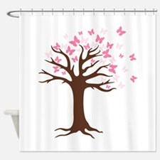 Butterfly Hope Tree Shower Curtain