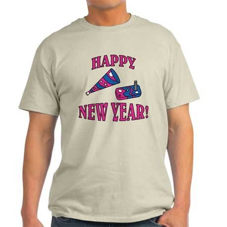 Happy New Year (Noise Maker & Hat) Light T-Shirt