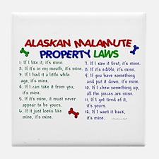Alaskan Malamute Property Laws 2 Tile Coaster