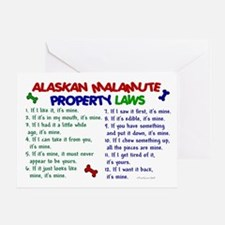 Alaskan Malamute Property Laws 2 Greeting Card