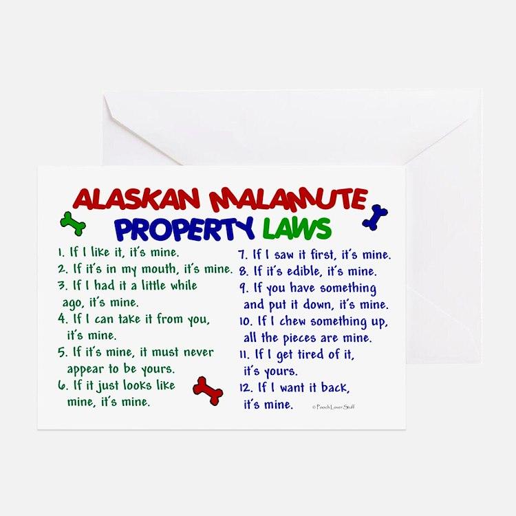 Alaskan Malamute Property Laws 2 Greeting Card