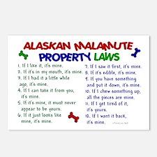 Alaskan Malamute Property Laws 2 Postcards (Packag