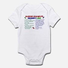 Alaskan Malamute Property Laws 2 Infant Bodysuit