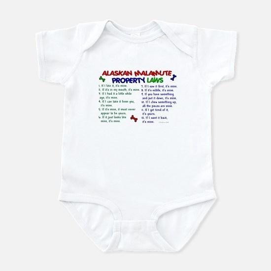 Alaskan Malamute Property Laws 2 Infant Bodysuit