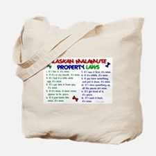 Alaskan Malamute Property Laws 2 Tote Bag