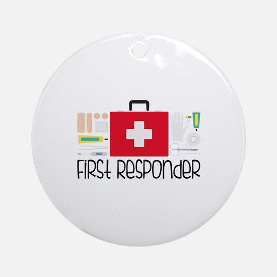 First Responder Round Ornament