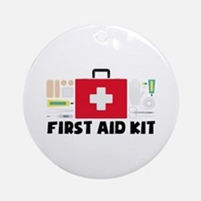 First Aid Kit Round Ornament