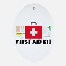 First Aid Kit Oval Ornament