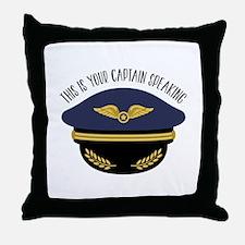 Your Captain Throw Pillow