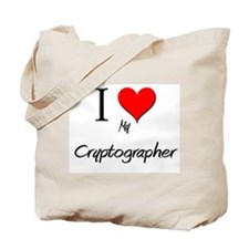 I Love My Cryptographer Tote Bag