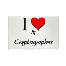 I Love My Cryptographer Rectangle Magnet