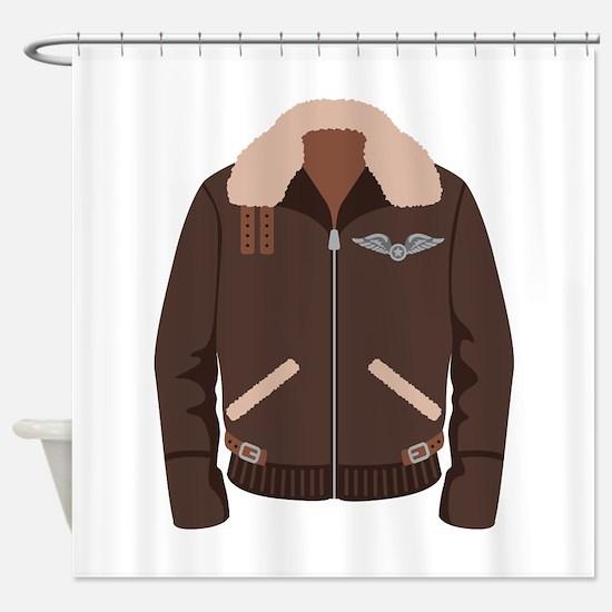 Bomber Jacket Shower Curtain