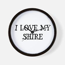 I Love My Shire Wall Clock