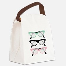 Retro Glasses Canvas Lunch Bag