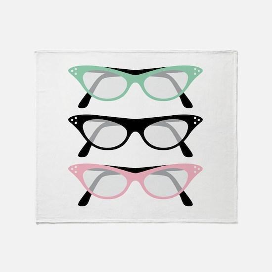 Retro Glasses Throw Blanket