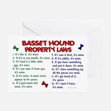 Basset Hound Property Laws 2 Greeting Card