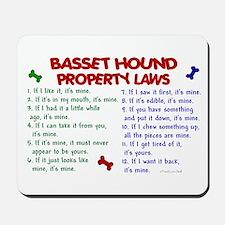 Basset Hound Property Laws 2 Mousepad