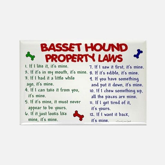 Basset Hound Property Laws 2 Rectangle Magnet