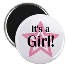 """It's a Girl Star 2.25"""" Magnet (10 pack)"""